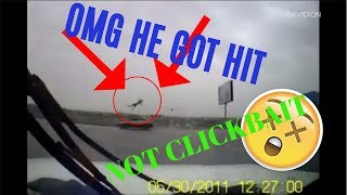 MAN GETS HIT BY CAR AND GOES FLYING ( NOT CLICKBAIT )