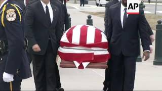 Justice Scalia's Casket Arrives at Supreme Court