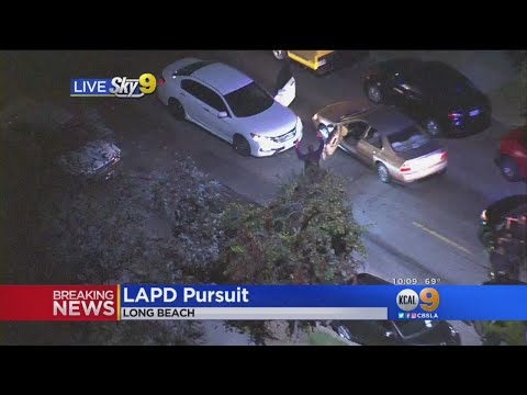 Stolen Car Pursuit Ends In Long Beach Thanks To Car Blocking Street