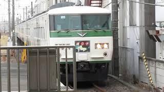 特急踊り子109号伊豆急下田行185系辻堂駅高速通過