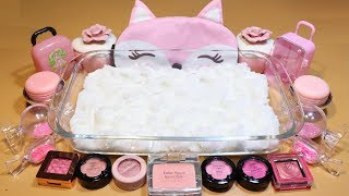 """PINK SPEACIAL Mixing Pink eye shadow and pink glitter Into Cloud Slime! """"Pink Cloud Slime"""""""