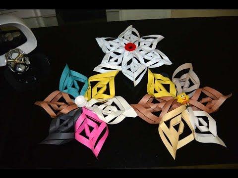 Twisted Paper Star lantern DIY, Art & Craft, Life Hack