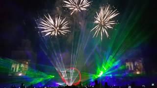 28.05.2016 Лазерное шоу и фейерверк к 70-летию минского тракторного завода