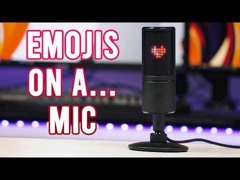 The most RANDOM mic we've seen! Razer Seiren Emote Review