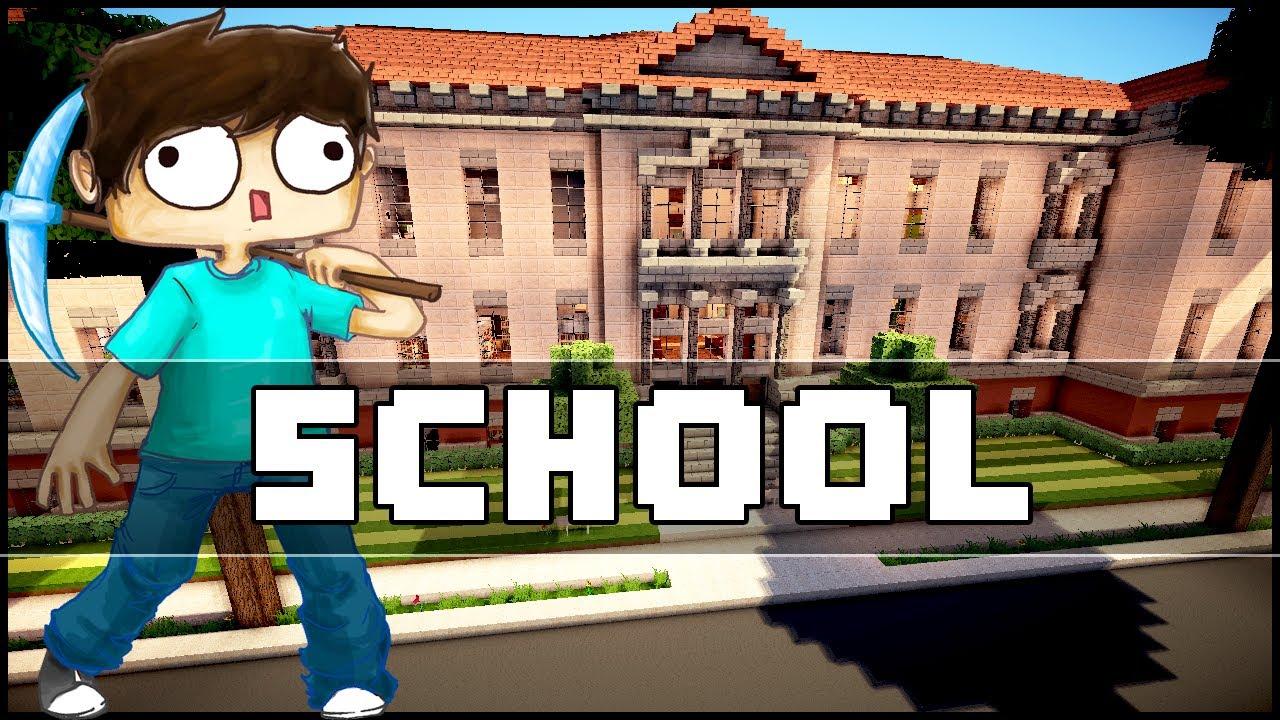 Minecraft - School - YouTube