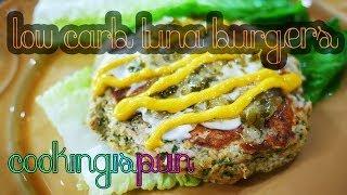 Tuna Burgers |  Low Carb & Gluten Free