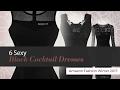 6 Sexy Black Cocktail Dresses Amazon Fashion Winter 2017