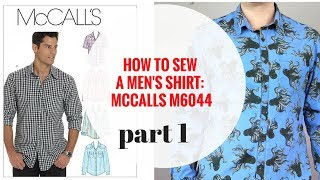 McCalls M6044 Mens Shirt Sewalong Part 1 Introduction