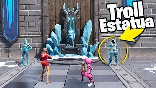 ME HAGO PASAR POR ESTATUA y Se lo creyeron...!😂😂 - Fortnite Battle Royale
