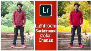 How to change background color in Lightroom app in Telugu   Lightroom  Tutorial   Simple retouch