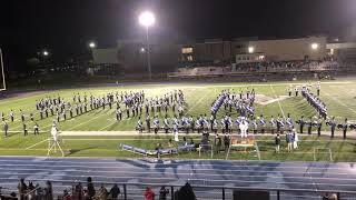 PVHS Spartan Marching Band Pre-Game Show 10/12/2018