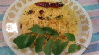 Lemon Rice With Sesame Seeds (chitrannam) - Southindian Cooking