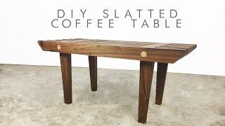DIY Mid-Century Modern Slatted Coffee Table   Modern Builds   EP. 50   Modern Builds