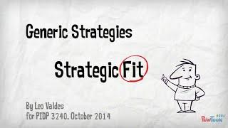 Generic Strategies and Strategic Fit