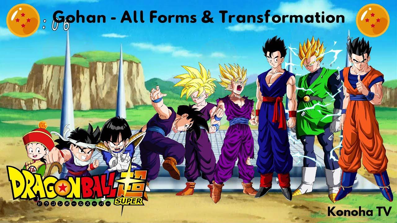 gohan all forms and transformations dragon ball z dragon ball