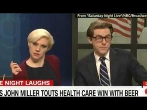 SNL's John Miller an alias of Trump via Baldwin Touts Health Care win with Beer
