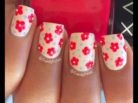 Easy Flower Nail Art Using Toothpick Only