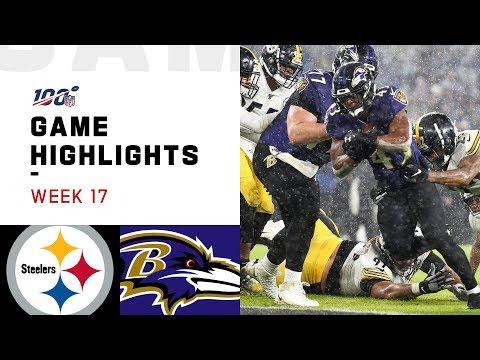 Steelers Vs. Ravens Week 17 Highlights | NFL 2019