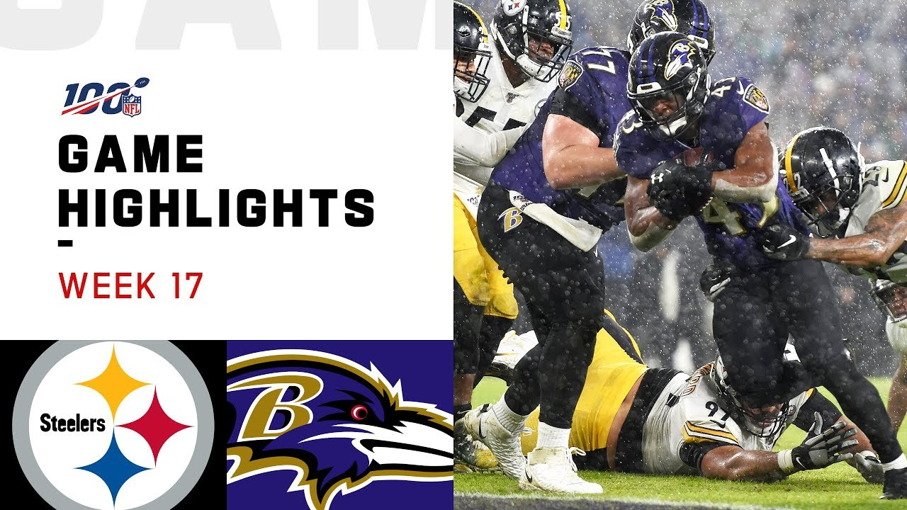 Steelers vs. Ravens Week 17 Highlights | NFL 2019