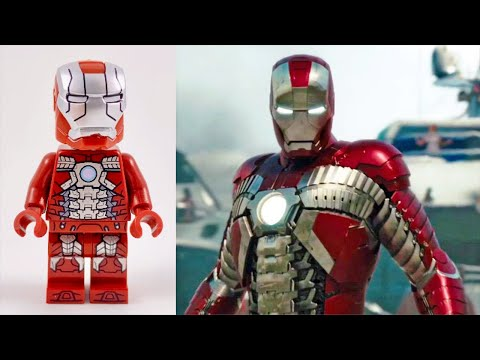 All LEGO IRON Man Minifigure Suits VS Movie SUITS