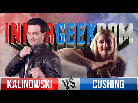 Mike Kalinowski VS Rachel Cushing - Movie Trivia Schmoedown Innergeekdom