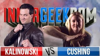 Mike Kalinowski VS Rachel Cushing - Movie Trivia Schmoedown Innergeekdom