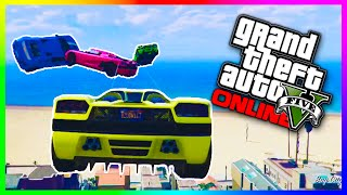 GTA 5 Epic Races - EXTREME BUILDING JUMPERS!!! GTA 5 Online Custom Races! (GTA V Funny Moments)