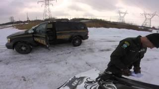 Snowmobile Cop Stop -GoPro