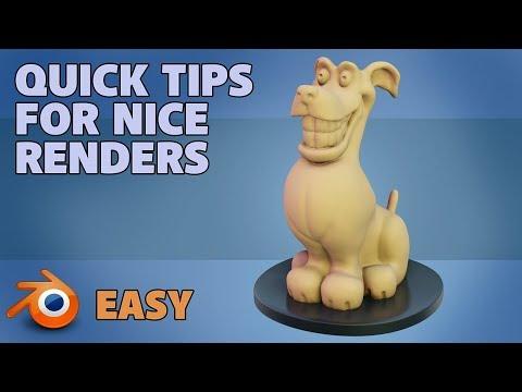 Quick Simple Tips for Nice Clean Renders   Blender 2 8   Eevee