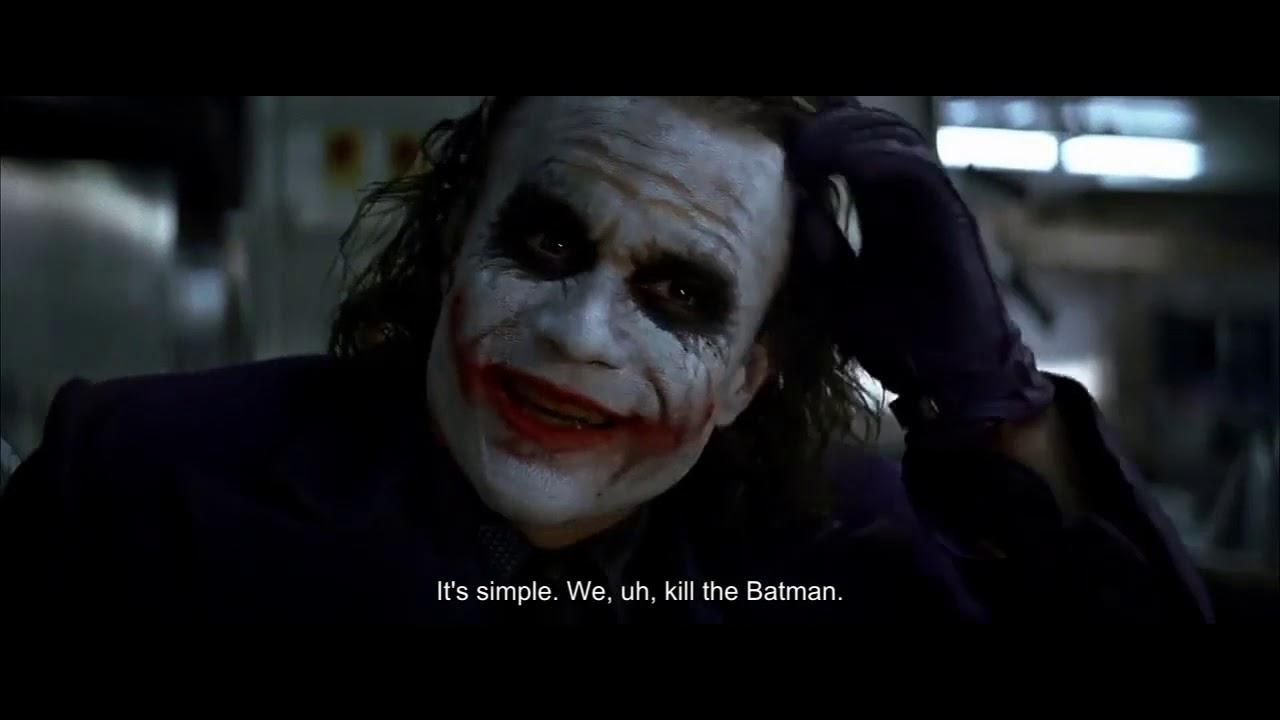 The Dark Knight (2008) Full Movie Online With English Subtitles - Joker's  Pencil Trick