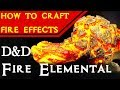 Fire Elemental Miniature for D&D - Crafting & Painting Fire Effects