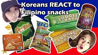 [FILIPINO SNACKS REACTION] Koreans try Filipino snacks for the first time