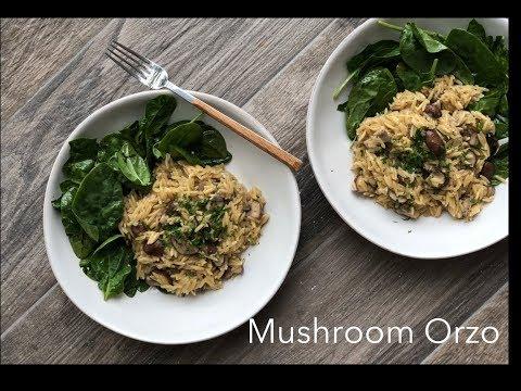 Mushroom Orzo