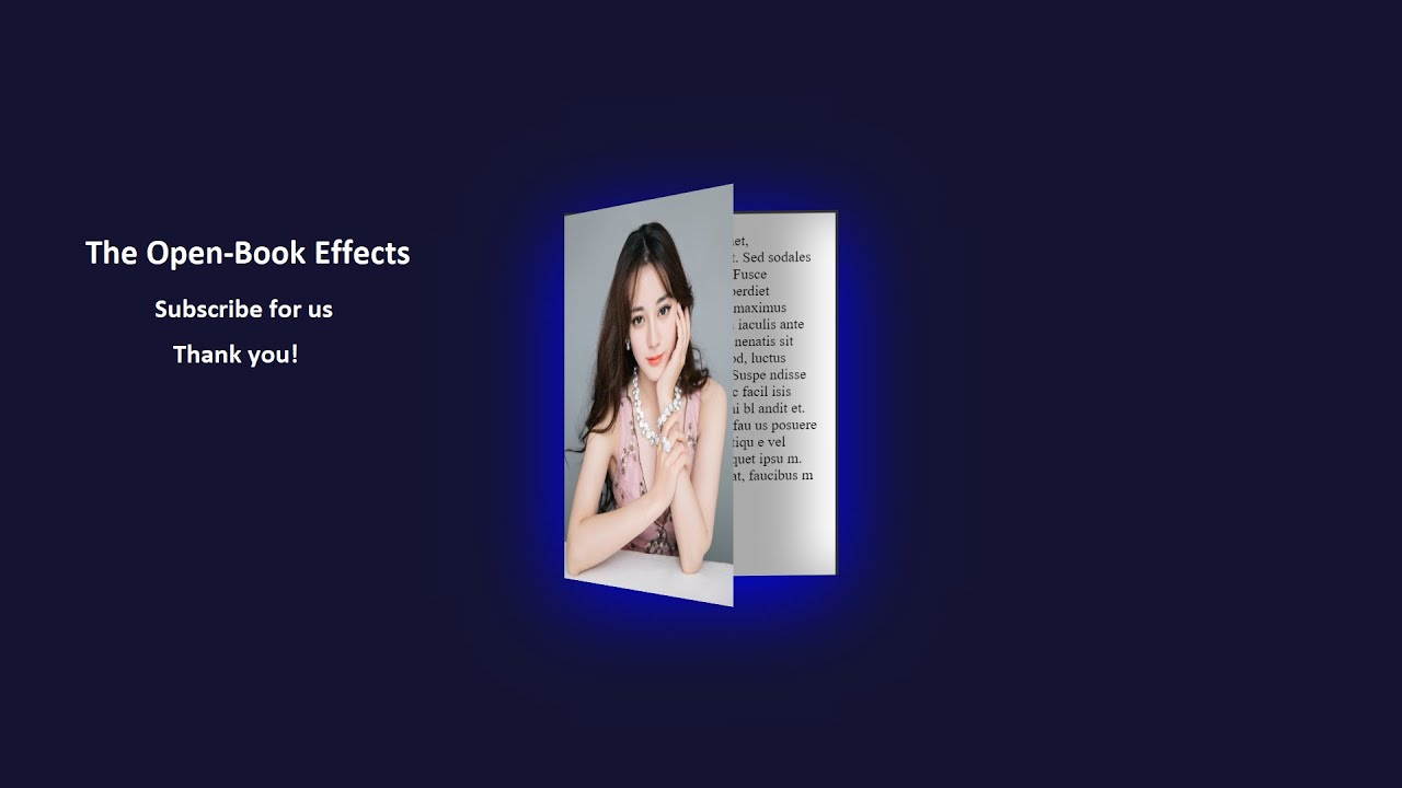Open Book Effects Using HTML & CSS without Javascript