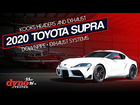 2020 Toyota GR Supra With Kooks Downpipe And Catback System