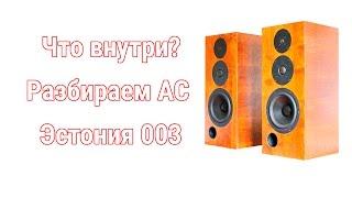 Разбираем акустическую систему Эстония/Audes 30 (130) АС 003