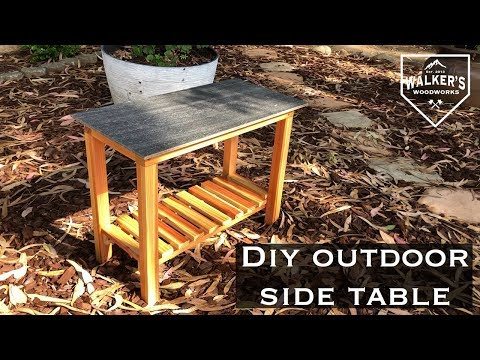 Build your own outdoor end table! / DIY side table