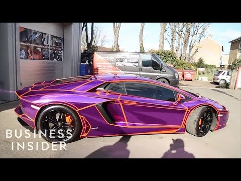 Meet The Guy Who Wraps Celebrities' Luxury Cars