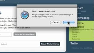 Learn Tumblr Ep14: Deleting A Tumblelog @ uSchoolme