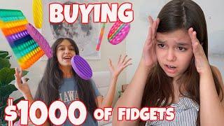 SPENDING $1000 on FIDGETS!  Emily and Evelyn