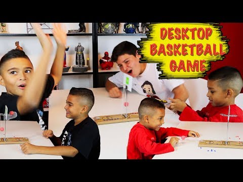 DOUBLE DESKTOP BASKETBALL GAME TRICK SHOTS (Dunlop) GIVEAWAY