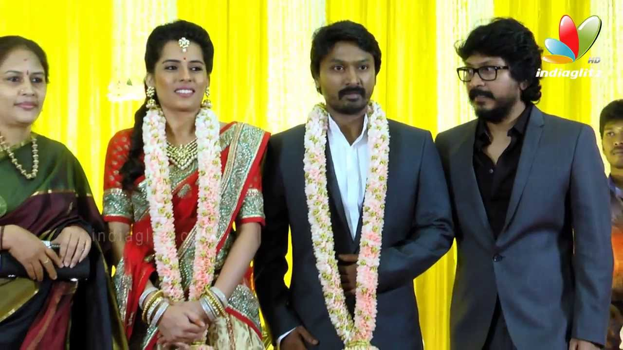 Tamil Celebrities at Actor Krishna and Kaivalya Reception | Arya, Director  Vikraman, Vishnuvardhan