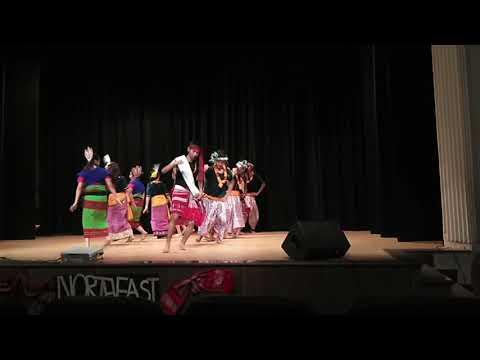 IP girls with Hinduites, NE fest 2018, Manipuri fusion dance
