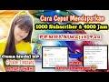 - Cara Cepat Dapat 1000 Subscriber dan 4000 Jam Tayang - Cepat Monetisasi 2020 - YouTuber Pemula - #31