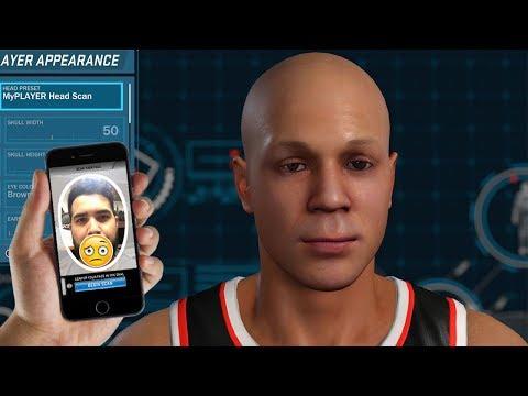 THIS FACE SCAN NEEDS HELP - NBA 2K18 My Career Character FAIL