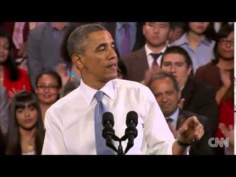 歐巴馬回應現場抗議者 經典!必看!