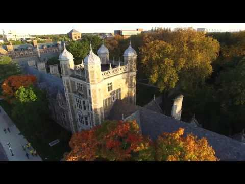 Video: Early autumn flight over the University of Michigan