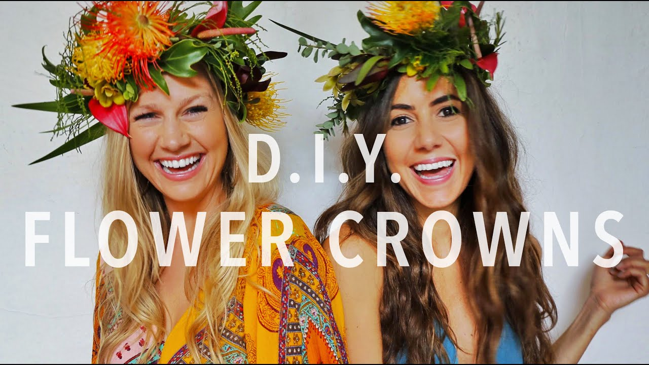How to make a tropical flower crown youtube izmirmasajfo