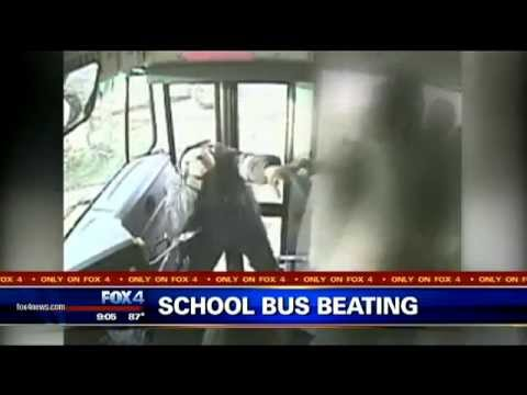 Caught on Camera - School Bus Driver Beaten by Students