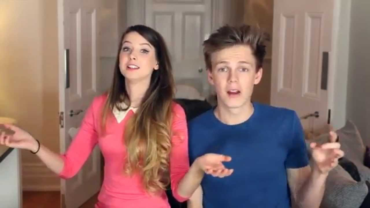 "Zoella and Caspar Lee ""Let it Go"" - YouTube"